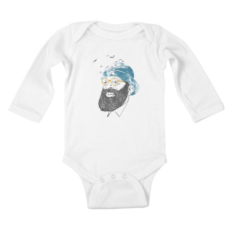 Freedom Kids Baby Longsleeve Bodysuit by jackduarte's Artist Shop