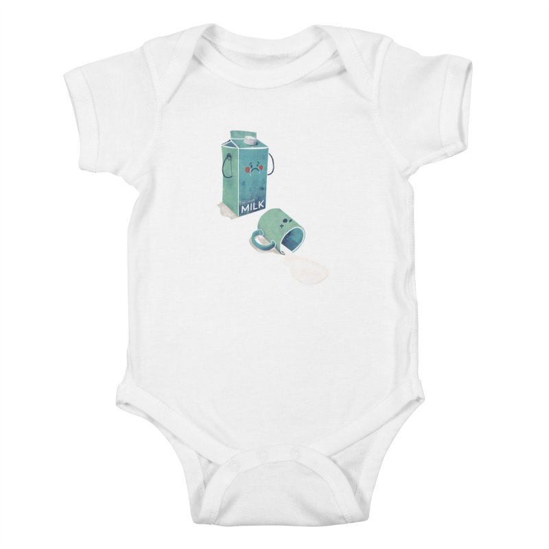 Don't cry for milk Kids Baby Bodysuit by jackduarte's Artist Shop
