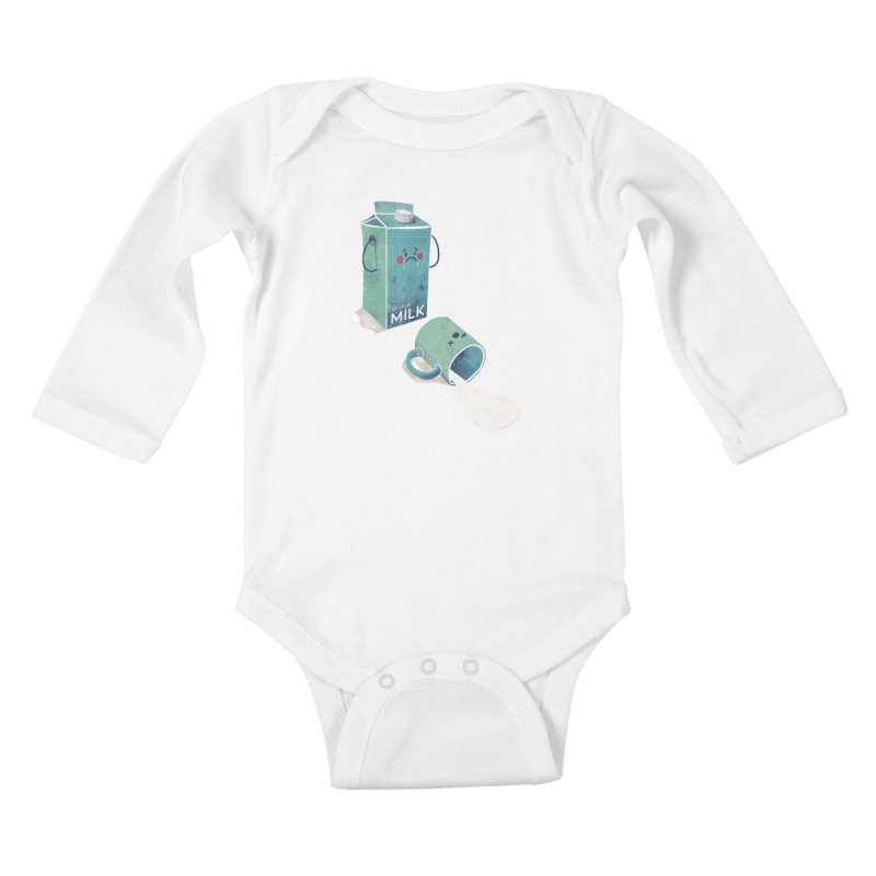 Don't cry for milk Kids Baby Longsleeve Bodysuit by jackduarte's Artist Shop