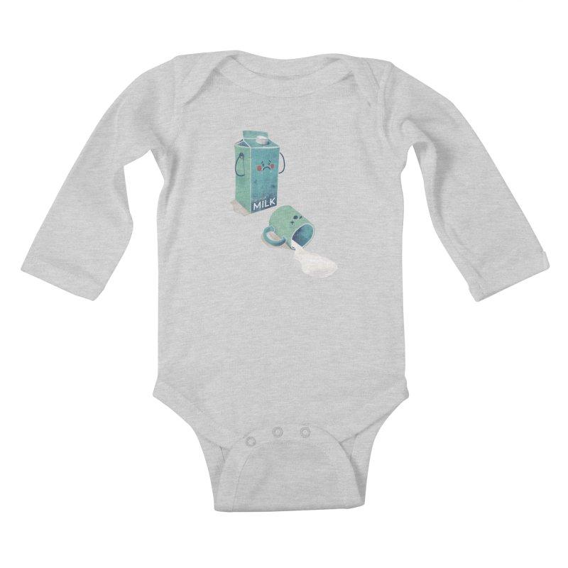 Don't cry for milk Kids Baby Longsleeve Bodysuit by jackduarte's Artist Shop