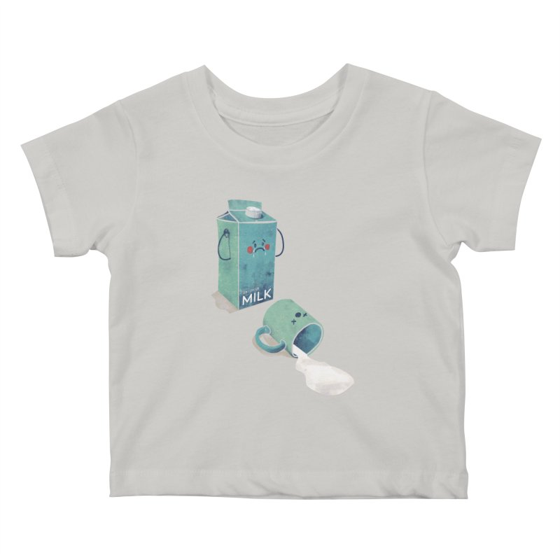 Don't cry for milk Kids Baby T-Shirt by jackduarte's Artist Shop