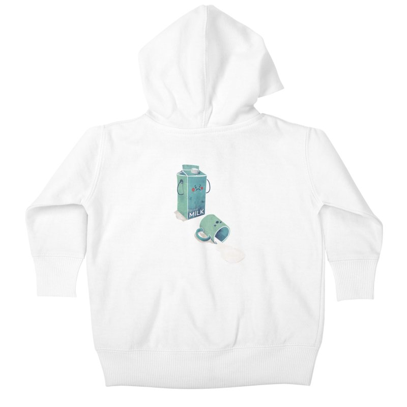 Don't cry for milk Kids Baby Zip-Up Hoody by jackduarte's Artist Shop