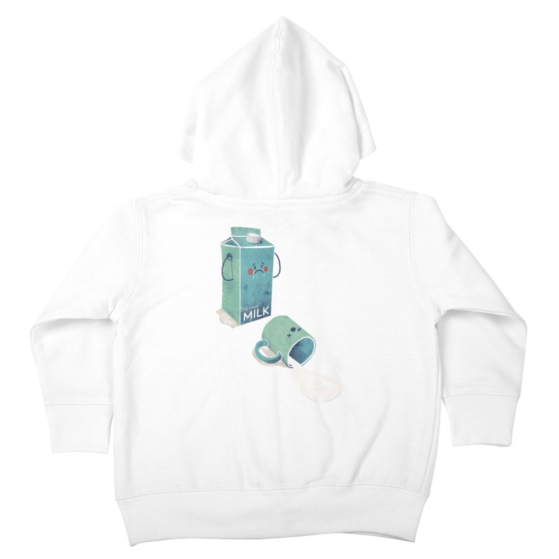 Don't cry for milk Kids Toddler Zip-Up Hoody by jackduarte's Artist Shop