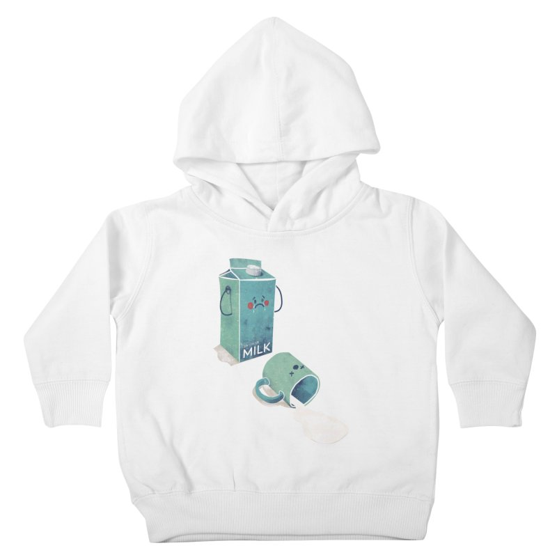 Don't cry for milk Kids Toddler Pullover Hoody by jackduarte's Artist Shop