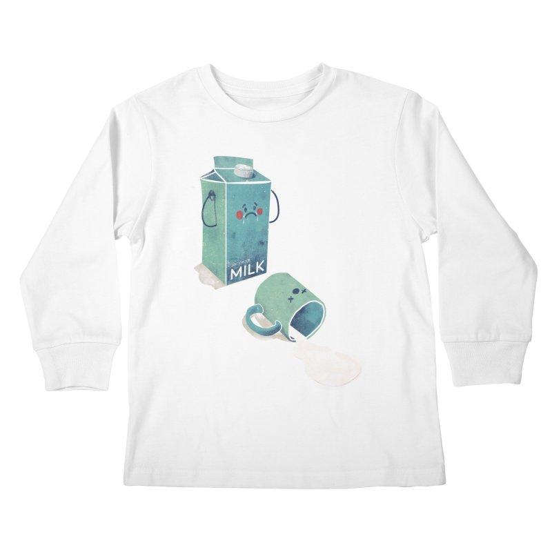 Don't cry for milk Kids Longsleeve T-Shirt by jackduarte's Artist Shop