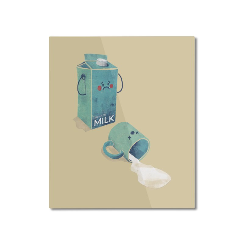 Don't cry for milk Home Mounted Aluminum Print by jackduarte's Artist Shop