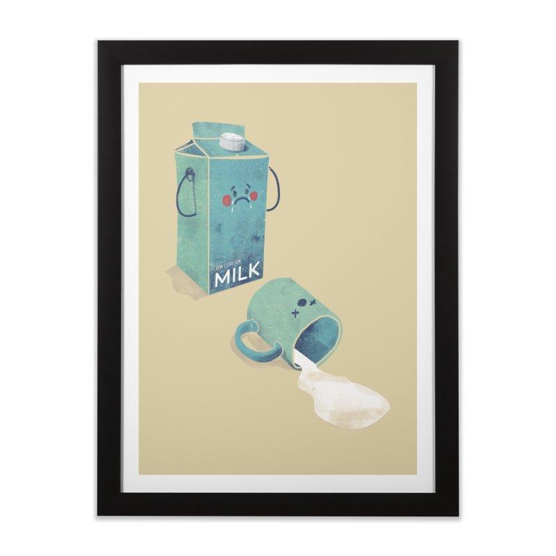 Don't cry for milk Home Framed Fine Art Print by jackduarte's Artist Shop