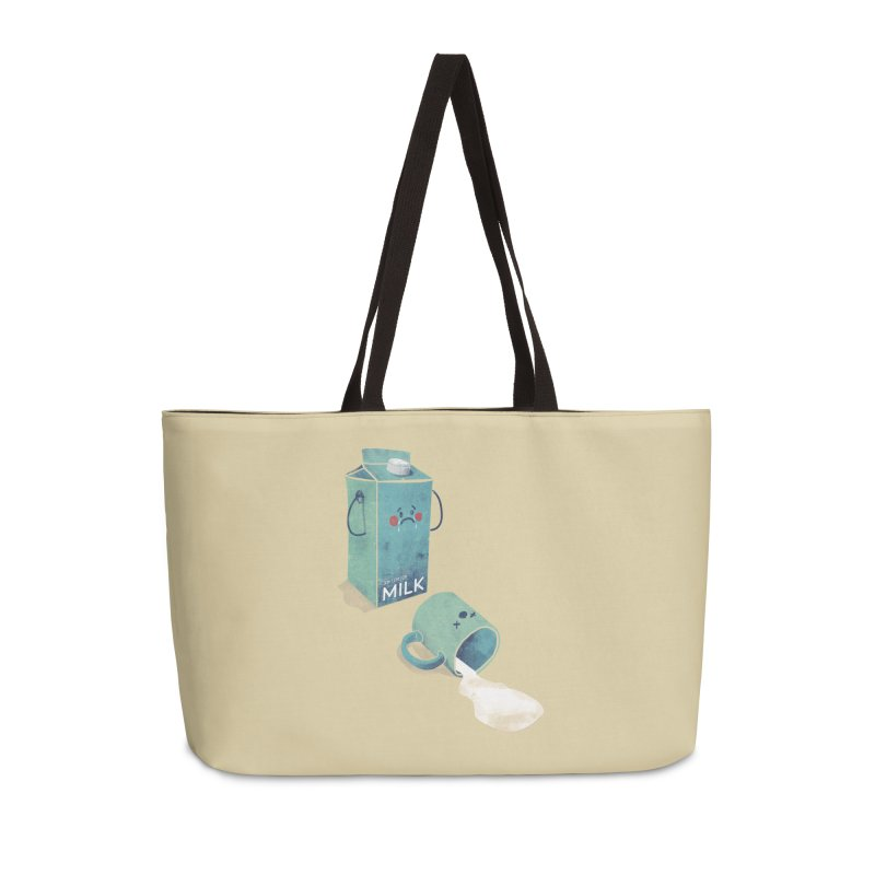 Don't cry for milk Accessories Bag by jackduarte's Artist Shop