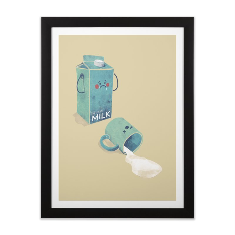 Don't cry for milk Home Framed Fine Art Print by jackduarte's Artist Shop