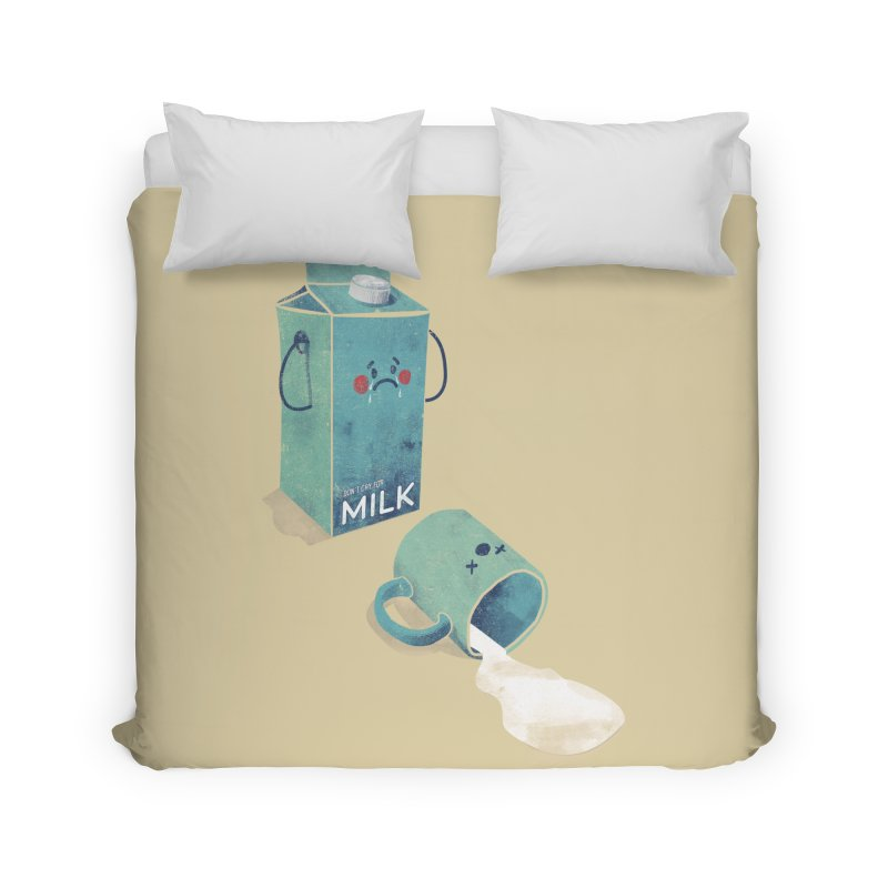 Don't cry for milk Home Duvet by jackduarte's Artist Shop