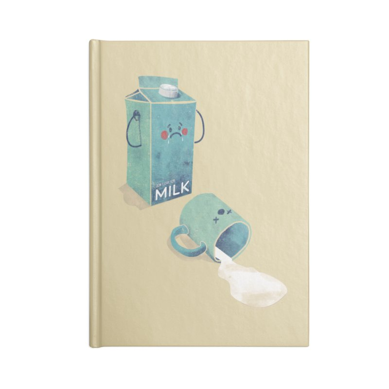 Don't cry for milk Accessories Blank Journal Notebook by jackduarte's Artist Shop
