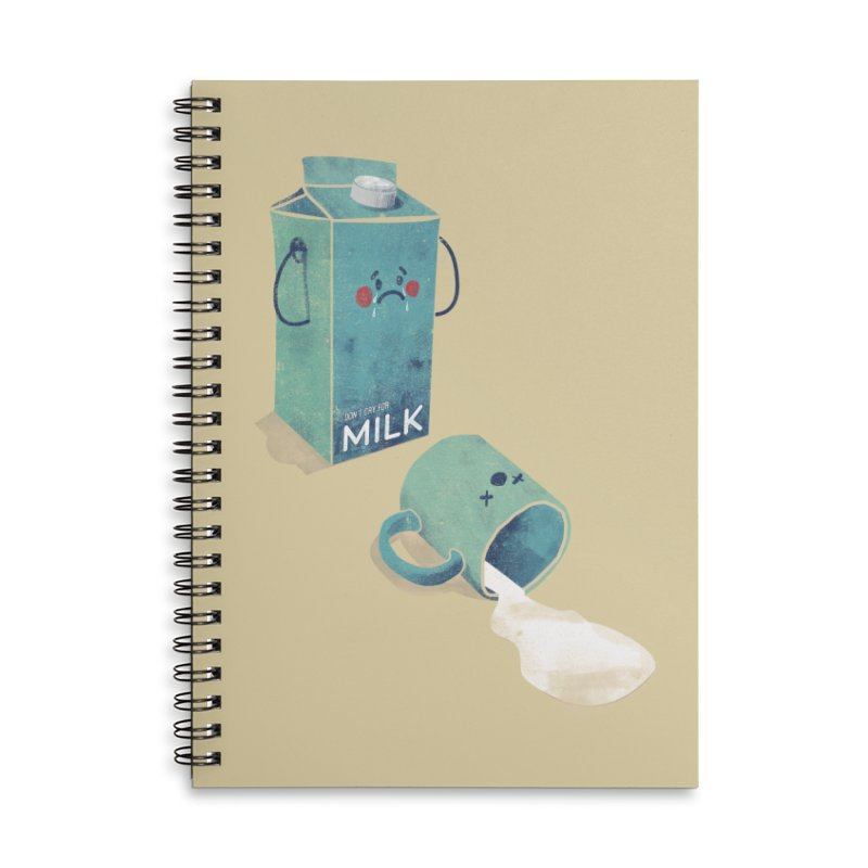 Don't cry for milk Accessories Notebook by jackduarte's Artist Shop