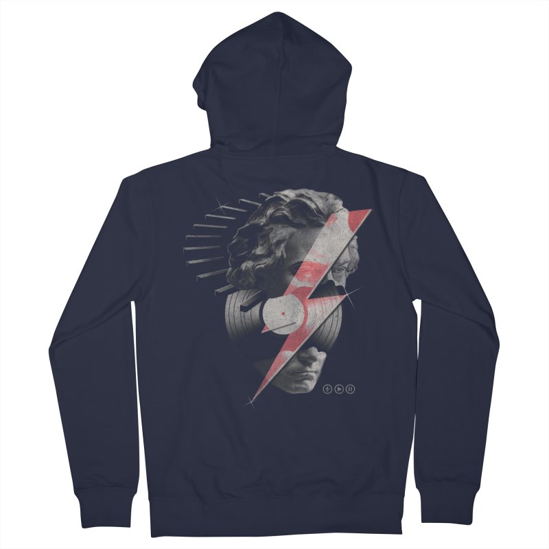 All music Women's French Terry Zip-Up Hoody by jackduarte's Artist Shop