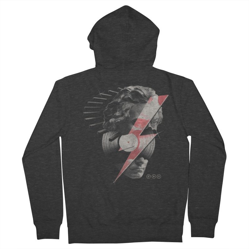 All music Men's French Terry Zip-Up Hoody by jackduarte's Artist Shop