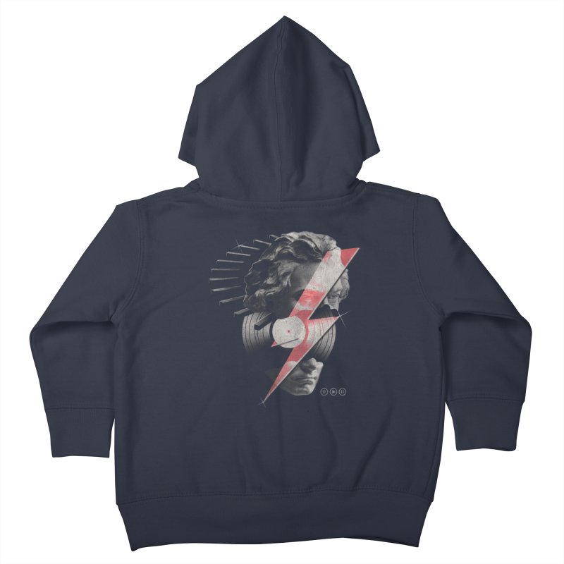 All music Kids Toddler Zip-Up Hoody by jackduarte's Artist Shop
