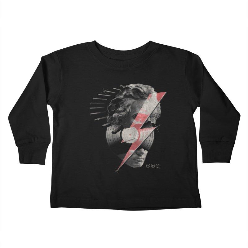 All music Kids Toddler Longsleeve T-Shirt by jackduarte's Artist Shop