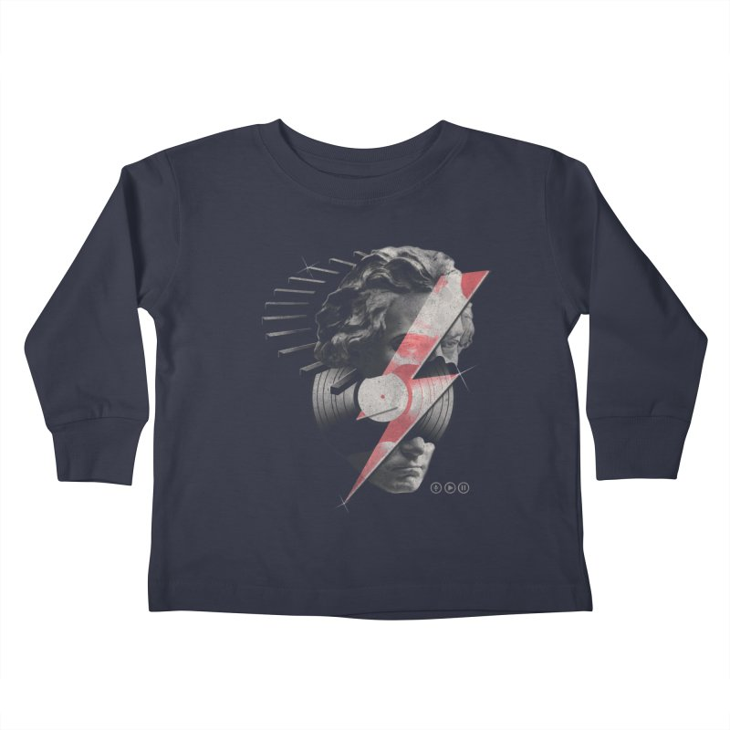 All music Kids Toddler Longsleeve T-Shirt by jackduarte's Artist Shop