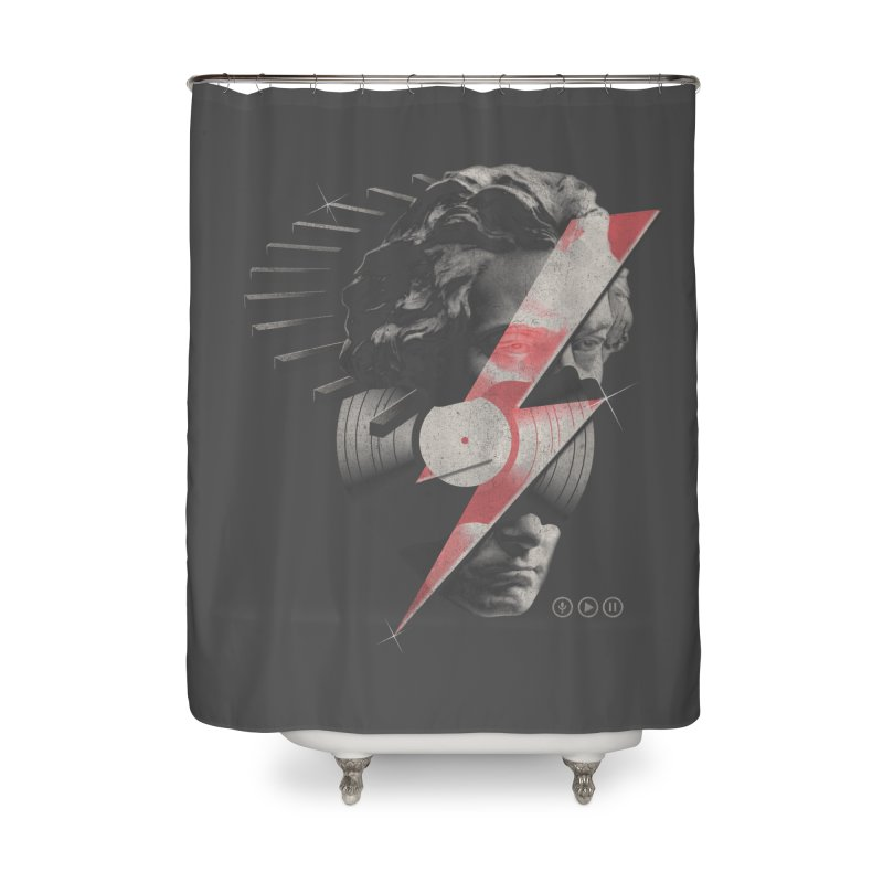 All music Home Shower Curtain by jackduarte's Artist Shop