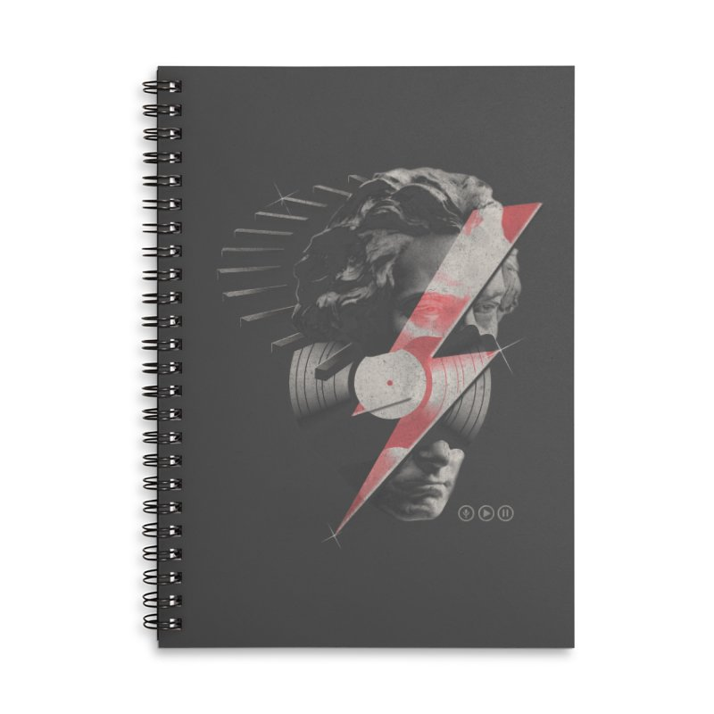 All music Accessories Lined Spiral Notebook by jackduarte's Artist Shop