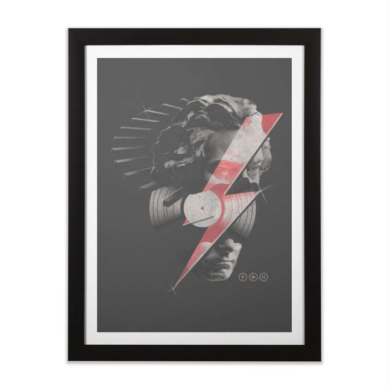 All music Home Framed Fine Art Print by jackduarte's Artist Shop