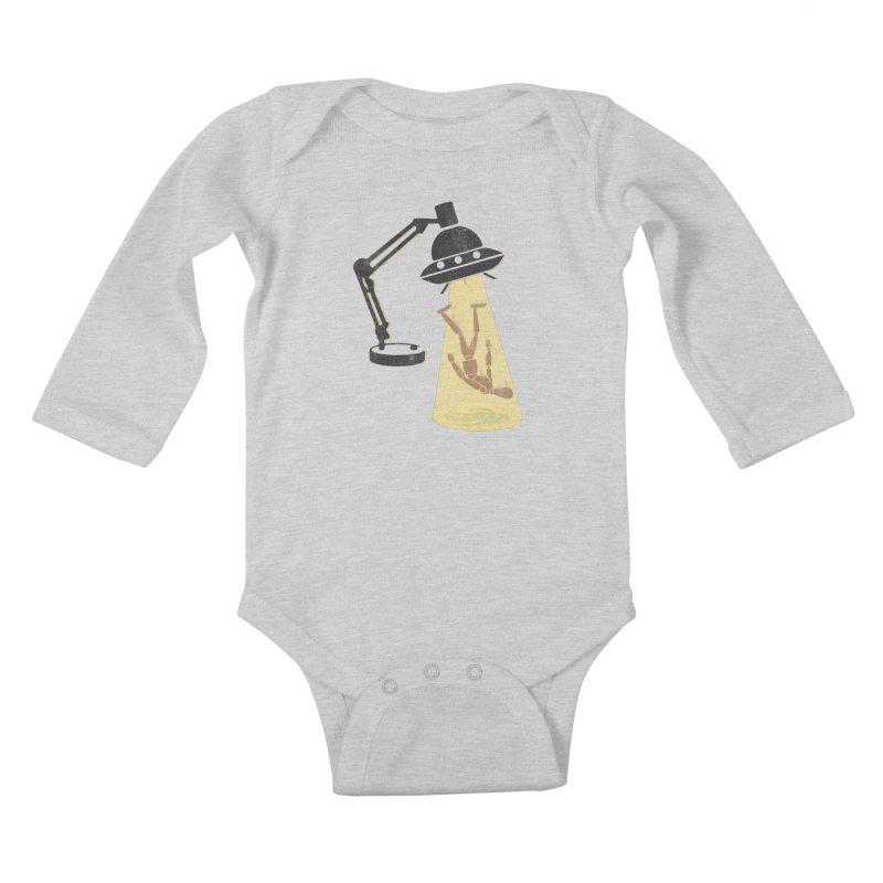 Little Abduction Kids Baby Longsleeve Bodysuit by jackduarte's Artist Shop