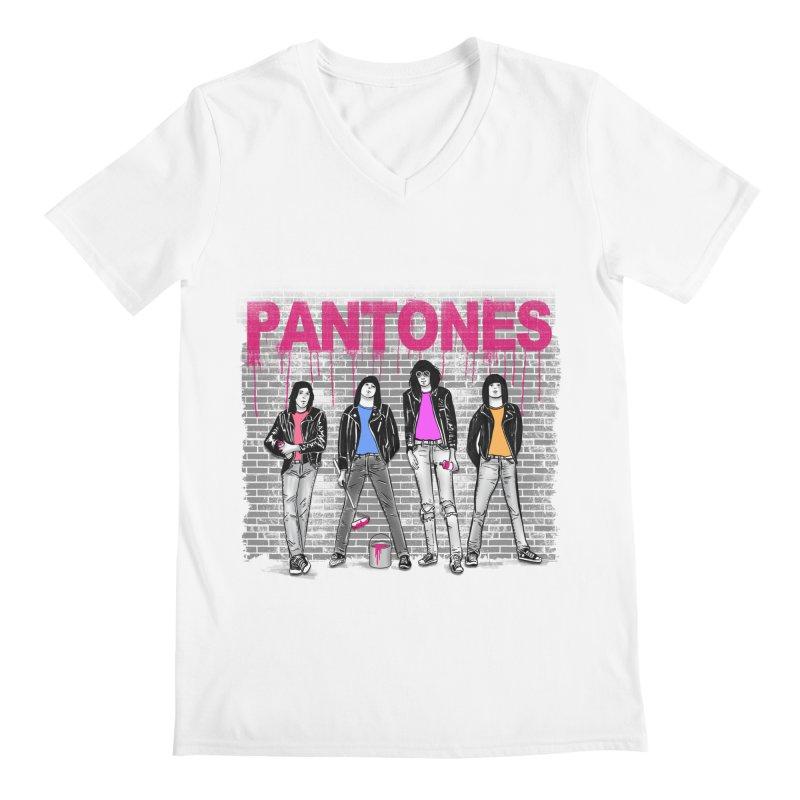Pantones Men's V-Neck by jackduarte's Artist Shop
