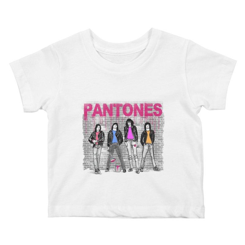 Pantones Kids Baby T-Shirt by jackduarte's Artist Shop
