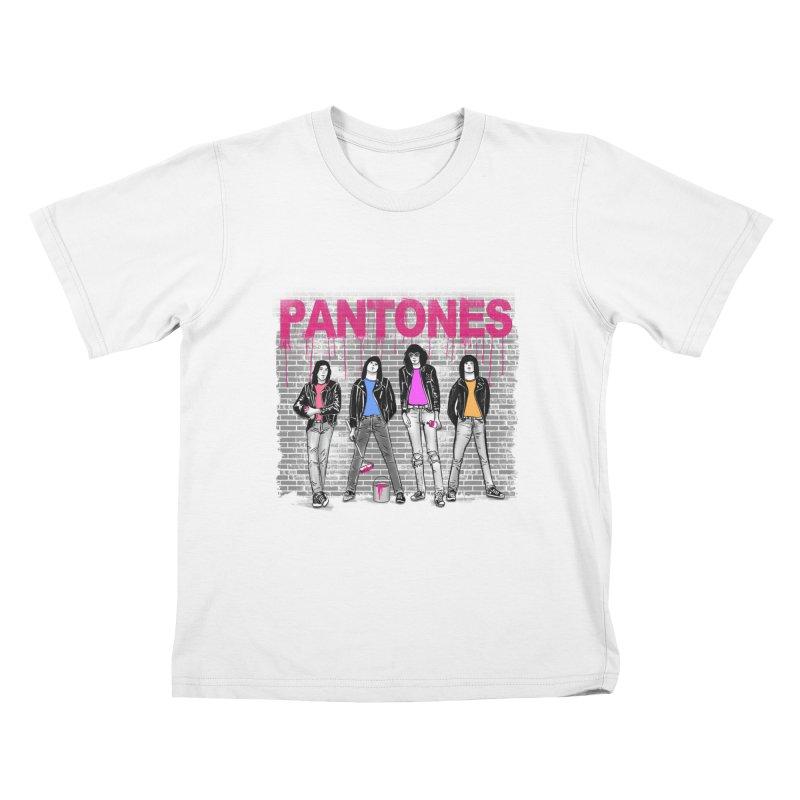Pantones Kids T-shirt by jackduarte's Artist Shop