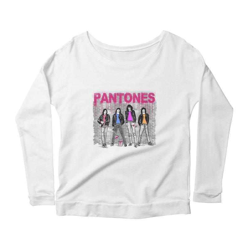 Pantones Women's Longsleeve Scoopneck  by jackduarte's Artist Shop