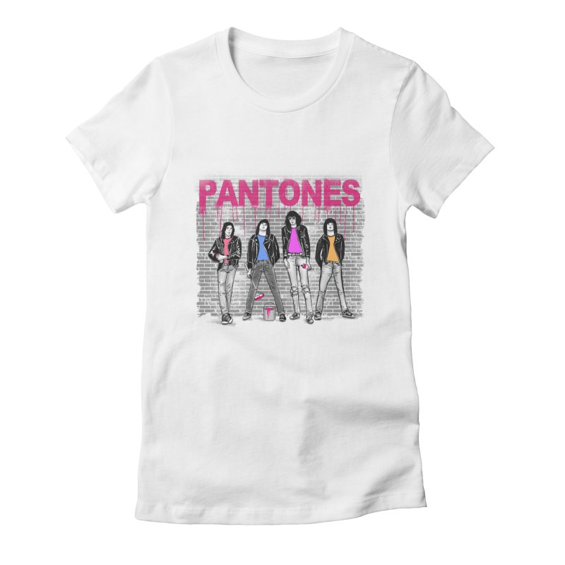 Pantones Women's Fitted T-Shirt by jackduarte's Artist Shop
