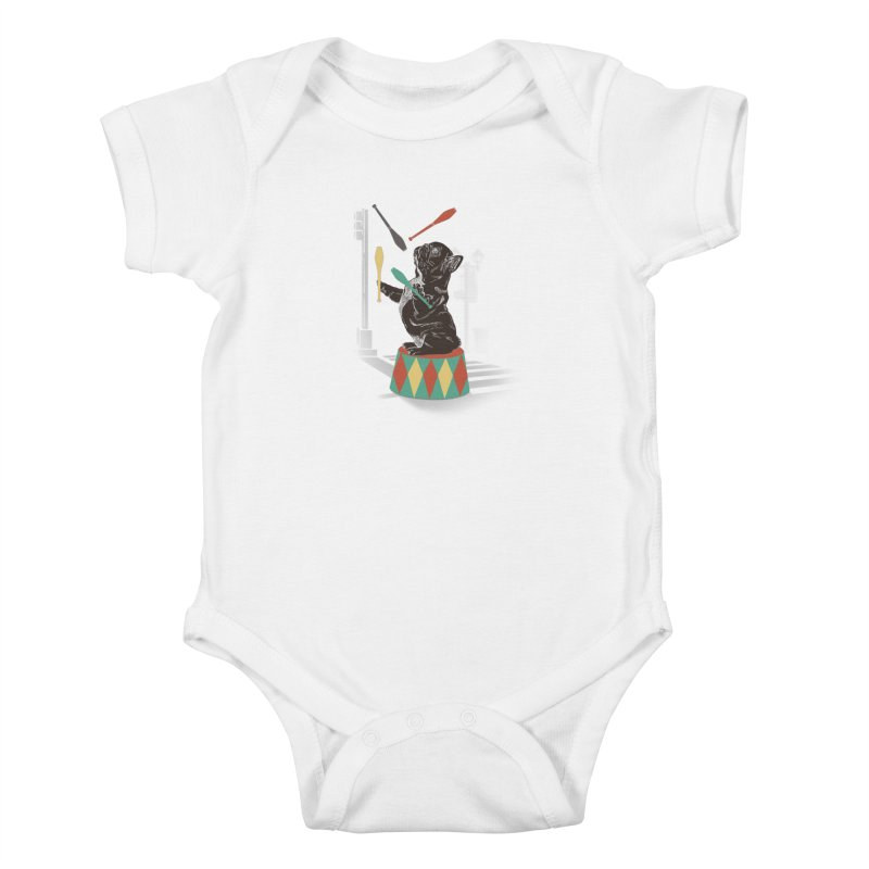 Street dog Kids Baby Bodysuit by jackduarte's Artist Shop