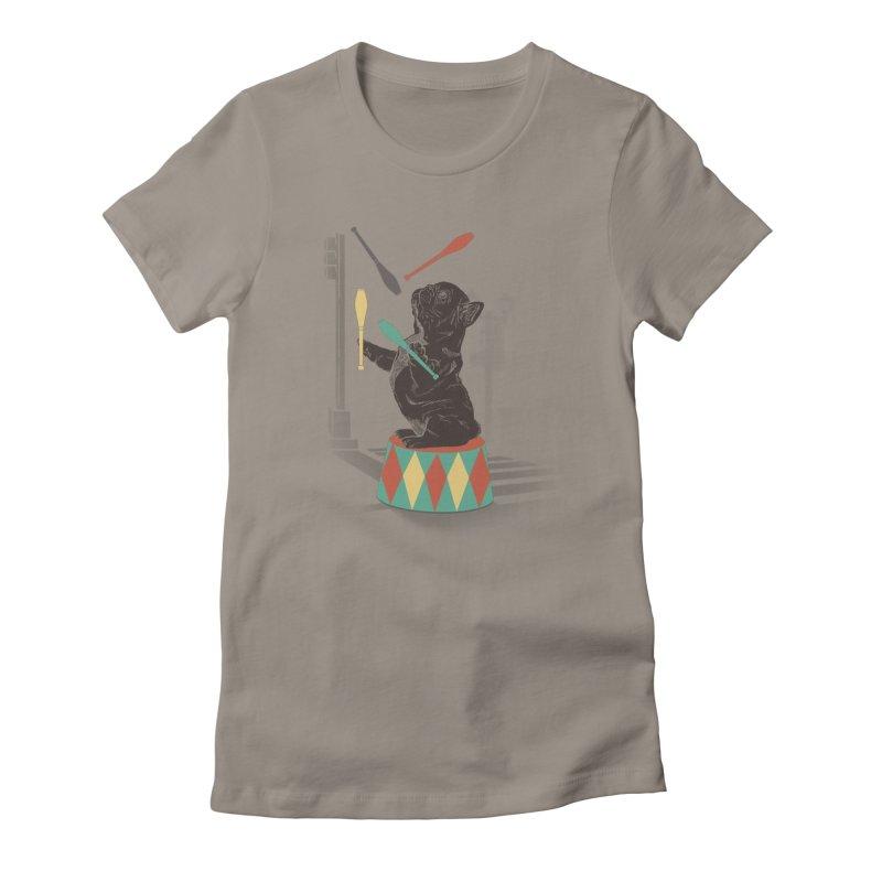 Street dog Women's Fitted T-Shirt by jackduarte's Artist Shop