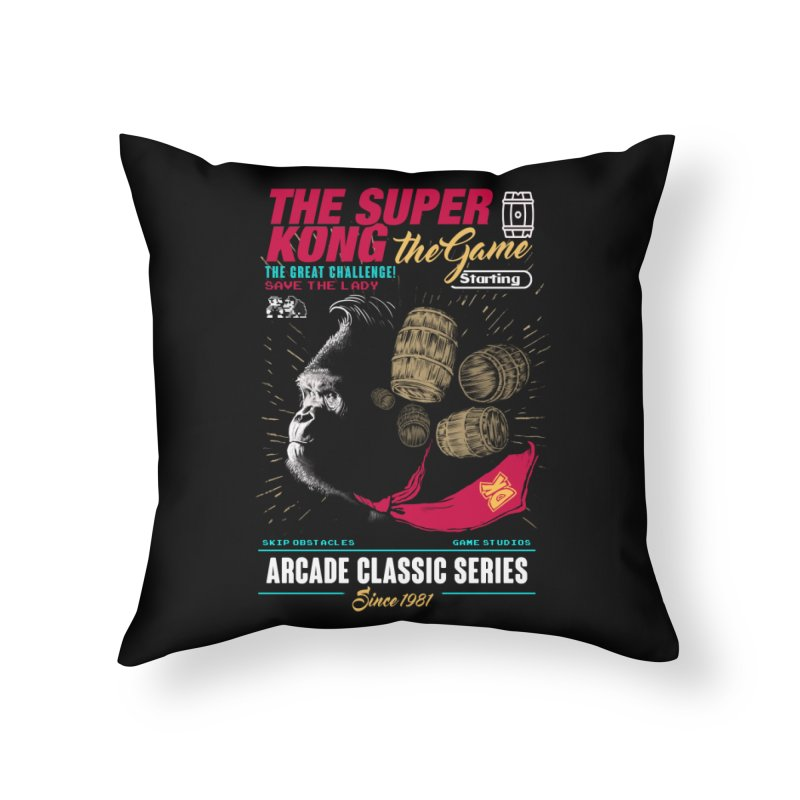 The game Home Throw Pillow by jackduarte's Artist Shop