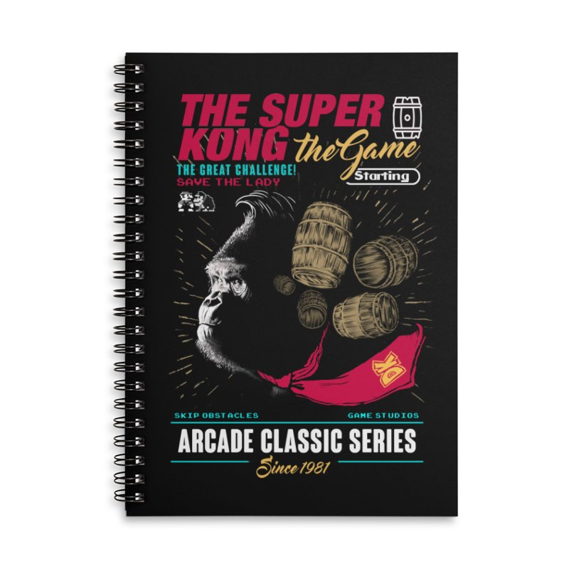 The game Accessories Lined Spiral Notebook by jackduarte's Artist Shop