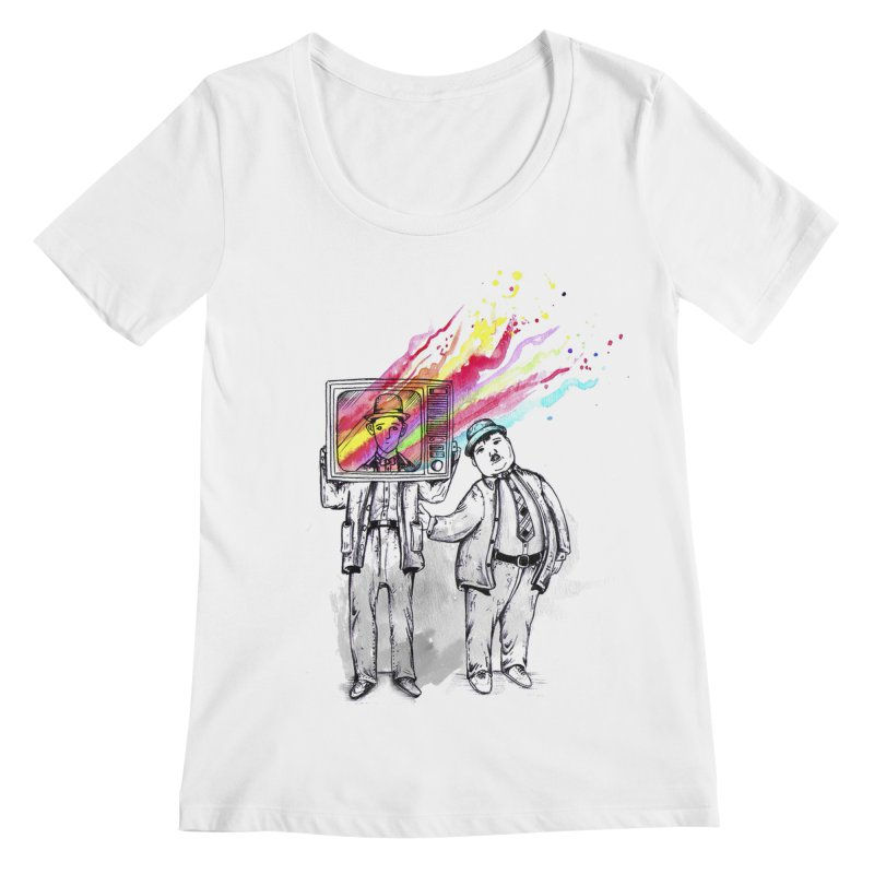 Colors beyond Women's Scoopneck by jackduarte's Artist Shop