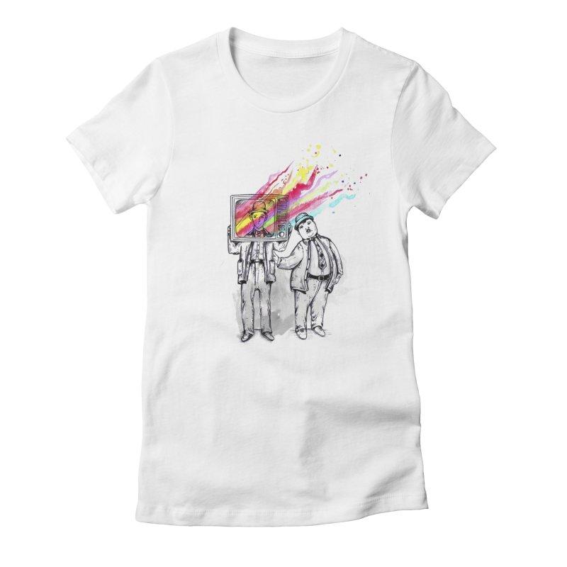 Colors beyond Women's Fitted T-Shirt by jackduarte's Artist Shop