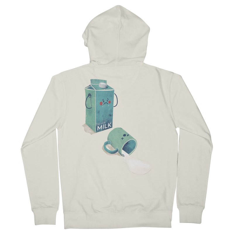 Don't cry for milk Men's Zip-Up Hoody by jackduarte's Artist Shop