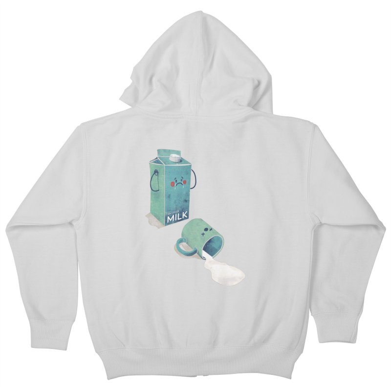 Don't cry for milk Kids Zip-Up Hoody by jackduarte's Artist Shop