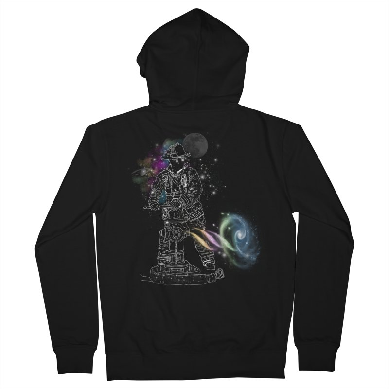 Space man Women's French Terry Zip-Up Hoody by jackduarte's Artist Shop