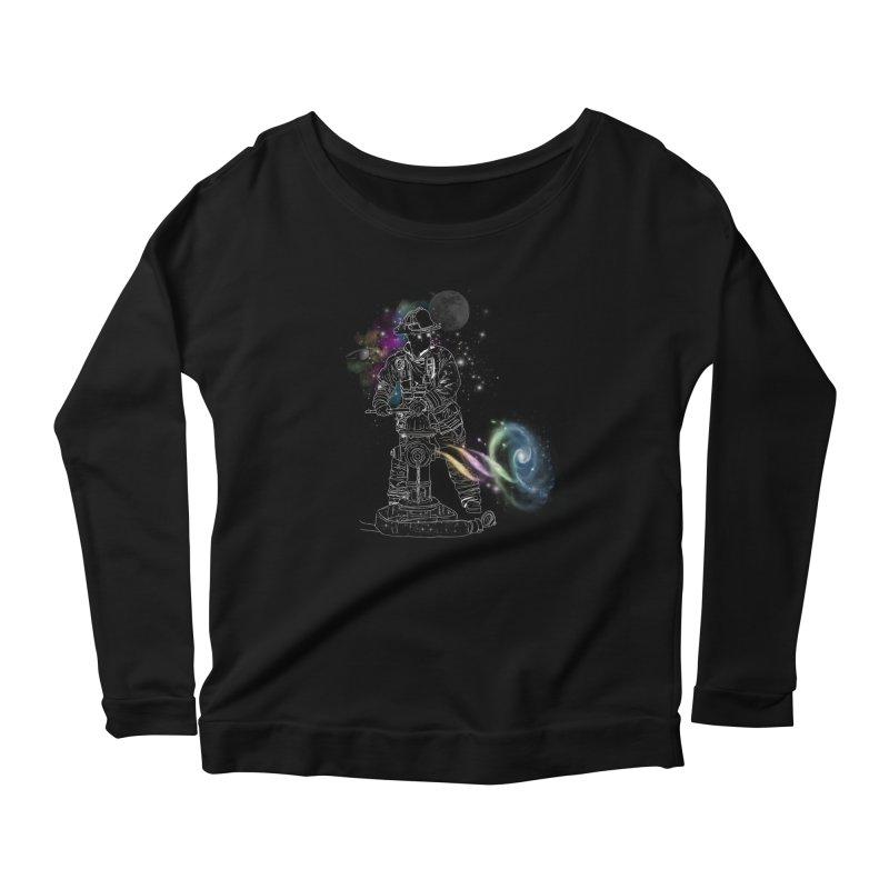 Space man Women's Longsleeve Scoopneck  by jackduarte's Artist Shop