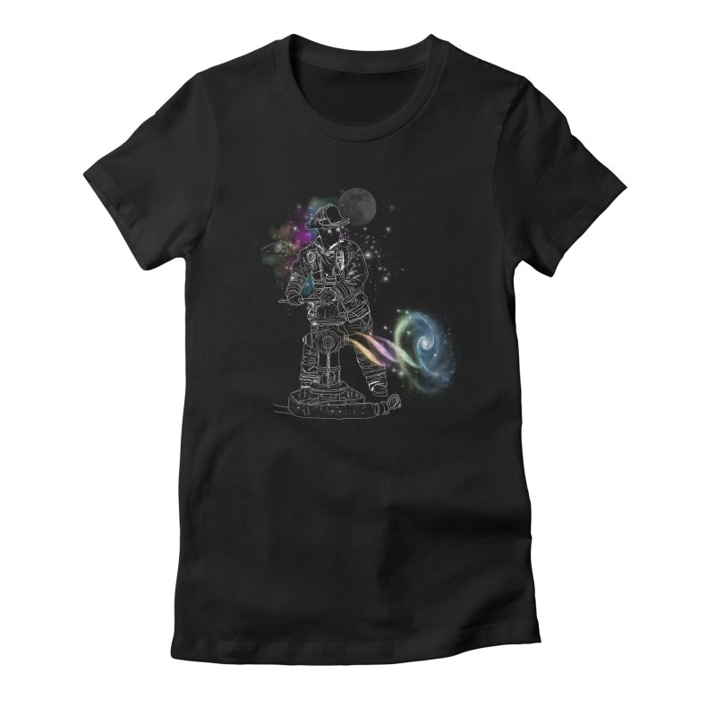 Space man Women's Fitted T-Shirt by jackduarte's Artist Shop