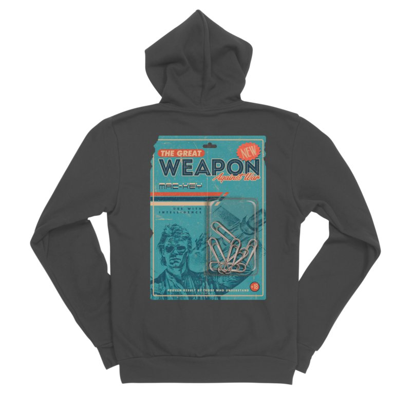 Great weapon Men's Sponge Fleece Zip-Up Hoody by jackduarte's Artist Shop