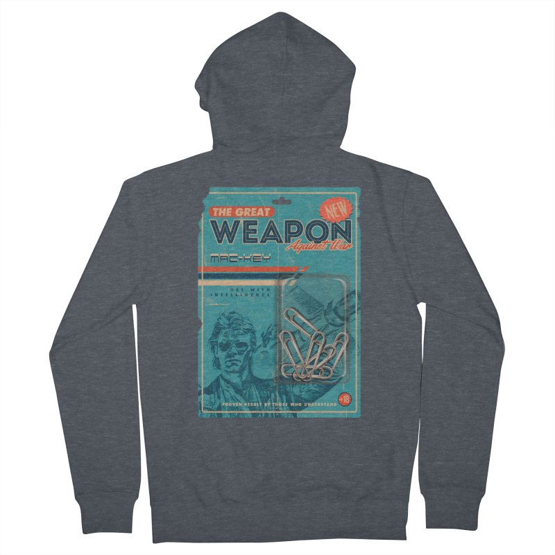 Great weapon Women's French Terry Zip-Up Hoody by jackduarte's Artist Shop