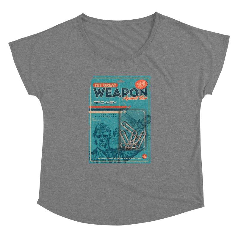 Great weapon Women's Dolman Scoop Neck by jackduarte's Artist Shop