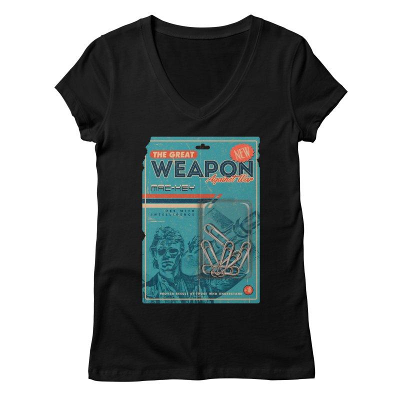 Great weapon Women's Regular V-Neck by jackduarte's Artist Shop