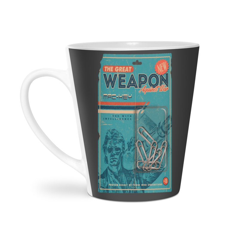 Great weapon Accessories Latte Mug by jackduarte's Artist Shop