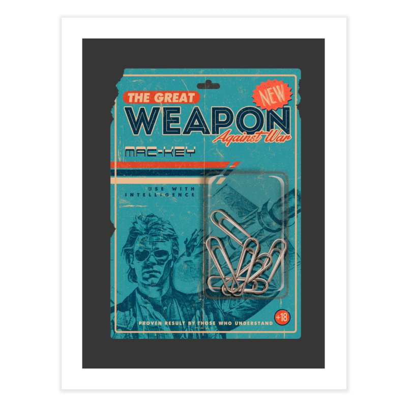 Great weapon Home Fine Art Print by jackduarte's Artist Shop