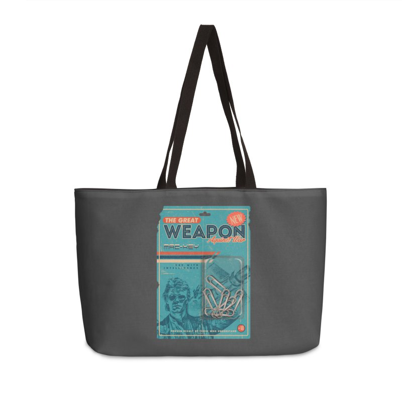 Great weapon Accessories Weekender Bag Bag by jackduarte's Artist Shop