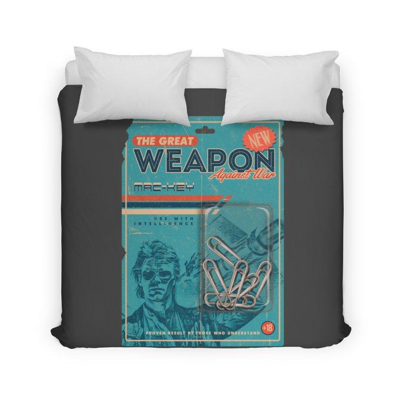 Great weapon Home Duvet by jackduarte's Artist Shop