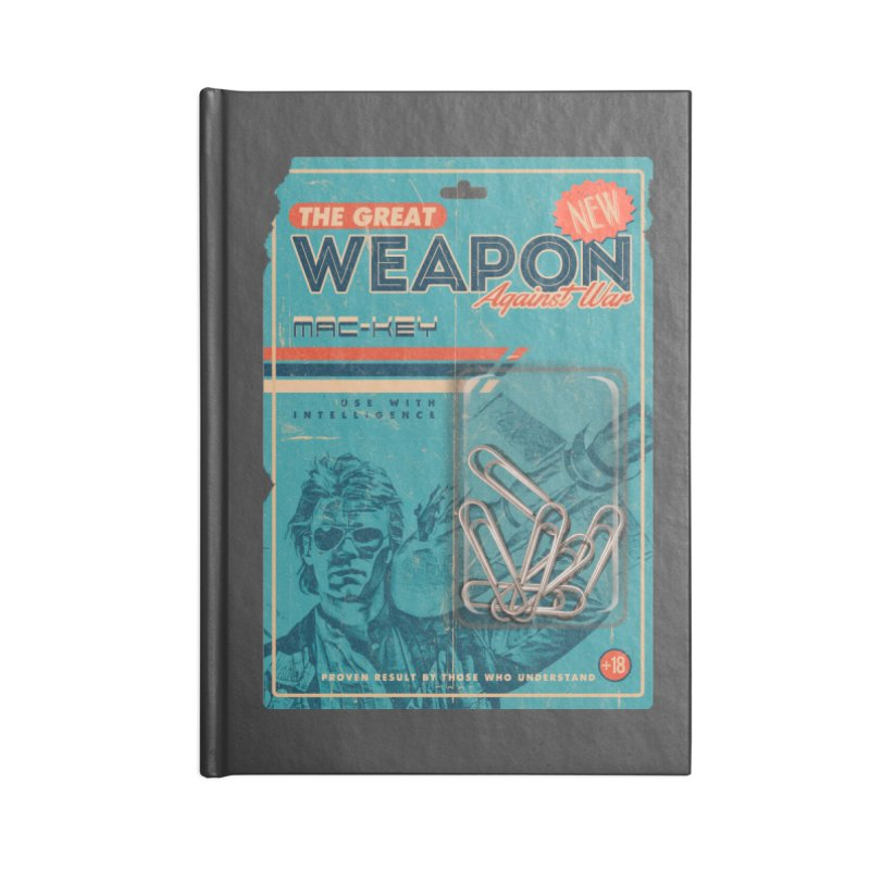 Great weapon Accessories Notebook by jackduarte's Artist Shop